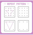 repeat pattern worksheet for kindergarten and vector image vector image