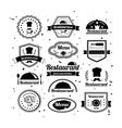 Retro restaurant logotypes set vector image