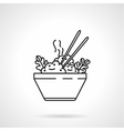Rice bowl black line icon vector image