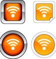 Rss communication wifi radio news vector image vector image