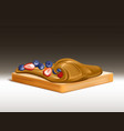 sandwich with peanut butter 3d realistic vector image vector image