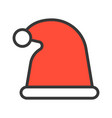santa hat merry christmas theme set filled vector image vector image