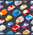 seamless pattern of cars vector image vector image