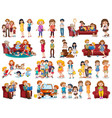 set family character vector image
