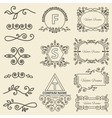 Set Logos framework individual ornament elements vector image vector image