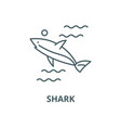 shark line icon linear concept outline vector image vector image