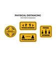 social physical distancing sign vector image