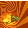 Striped spiral pineapple confectioners background vector image vector image
