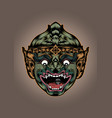 thai thailand monkey hanuman mask actors mask head vector image