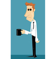Tired cartoon office worker vector image vector image