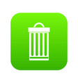 trash can icon digital green vector image vector image
