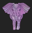 vaporwave elephant vector image