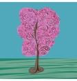 Vintage tree vector image vector image