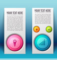 web business infographic vertical banners vector image vector image