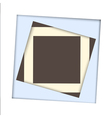 White paper square and frame background vector image vector image