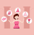 woman planning her wedding vector image