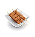 Yakitori skewers isolated on white vector image vector image