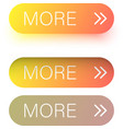 yellow spectrum more web buttons isolated on white vector image vector image