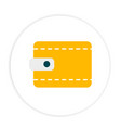 yellow wallet icon circle frame white background v vector image