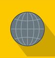 global icon flat style vector image
