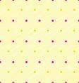 Simplicity dot yellow pastel vector image