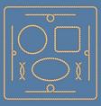 nautical ropes frames set vector image