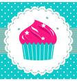 Retro party cupcake template vector image
