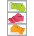 Set of speech bubbles incorporated in gift cards vector image
