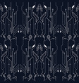 abstract tech line pattern vector image vector image
