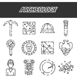 Archeology icon set vector image