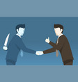 bad businessman betray to other concept idea vector image vector image