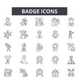 badge line icons signs set outline vector image vector image