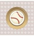 baseball ball sport vector image vector image