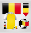 belgium flag design vector image vector image