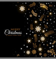 black and golden merry christmas decorative vector image vector image