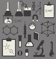 black science icon set vector image vector image