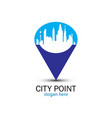 blue city point vector image vector image