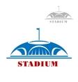 Blue sport stadium complex icon vector image vector image