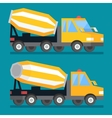Building construction concrete mixer truck Cement vector image vector image