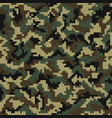 camouflage pattern digital seamless vector image vector image
