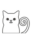 cat icon image vector image vector image