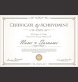 certificate or diploma retro vintage design 3 vector image vector image