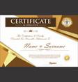certificate retro design template 3 vector image vector image