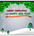 christmas snowflake tree vector image vector image