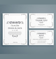 clean wedding invitation thankyou card save the vector image vector image
