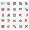Colorful online education icons vector image vector image