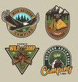 colorful summer adventure labels vector image