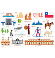 country chile travel vacation guide of goods vector image vector image