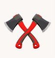 crossed modern axes vector image vector image
