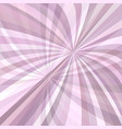curved ray burst background vector image vector image